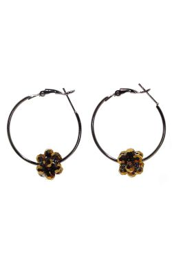 Shimmering Hoop Earrings | Beaded Nickel and Lead Free