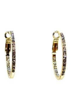Crystal Gold Hoop Earrings | Gold Plated and Nickel Free