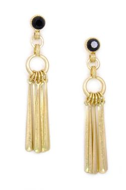 Soft Gold Wind Chime Earrings | Gold-Plated and Hypoallergenic |