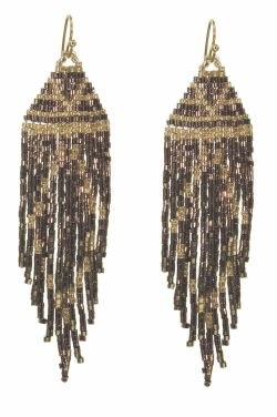 Beaded Fringe Earrings | Hypoallergenic and Nickel Free
