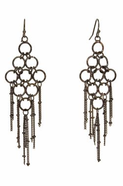 Hematite Link Drop Earrings | Hypoallergenic and Nickel Free |