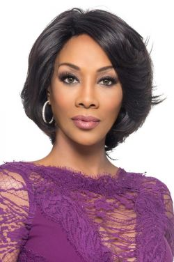 Kaia by Vivica Fox Wigs - Brazilian Natural Remy Human Hair, Lace Front Wig