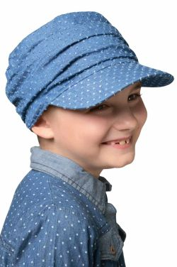 Kids Denim Eyelet Tenley Newsboy Hat | Girls Chemo & Alopecia Hats