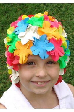 Petite Girls Petal Swim Cap
