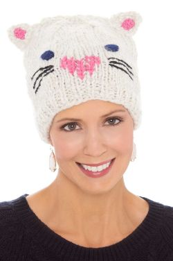 Kitty Cat Knit Beanie Cap | Cute Beanies for Women