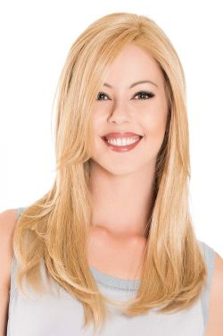 18 Inch Lace Front Mono Top Hairpiece by Belle Tress Wigs - Heat Friendly Synthetic, Lace Front, Monofilament