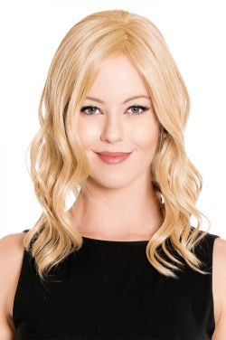 14 Inch Lace Front Mono Top Wave Hairpiece by Belle Tress Wigs - Heat Friendly Synthetic, Lace Front, Monofilament