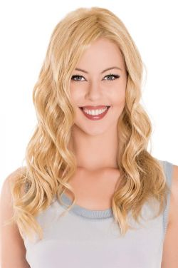 18 Inch Lace Front Mono Top Wave Hairpiece by Belle Tress Wigs - Heat Friendly Synthetic, Lace Front, Monofilament