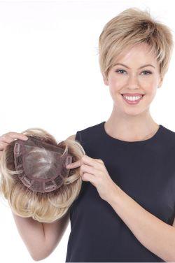 Lace Front Mono Topper Volume 6 by Belle Tress Wigs - Heat Friendly, Lace Front, Monofilament Topper