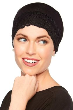 Lace Sleep Cap | Soft Hat Liner | Cardani® Viscose from Bamboo