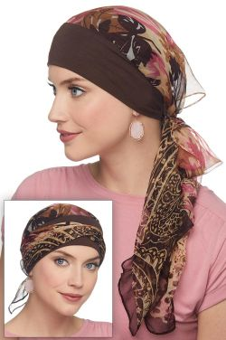 Lanie Pre Tied Scarf Cap | Ready Tie Head Scarves