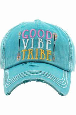 Good Vibe Tribe Hat | Vintage Distressed Baseball Cap