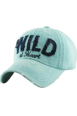 Wild at Heart Hat | Vintage Distressed Baseball Cap |