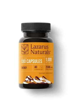 25mg CBD Energy Blend Capsules | Caffeinated CBD Isolate 40 Capsules