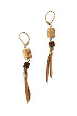 Bead & Leather Tassel Earrings | Nickel Free Hypoallergenic Earrings