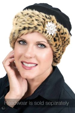 Faux Fur Sparkle Cuff Headband | Hat and Turban Accessory | Ear Warming Cuff Band