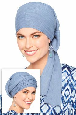 Knitted Head Wrap | Pure Cotton Long Tail Head Covering