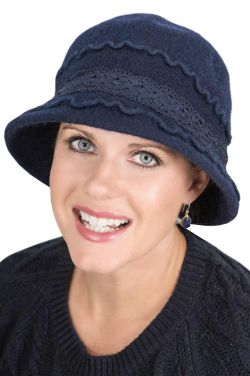 Lorraine Cloche Hat - Wool Winter Hats for Women