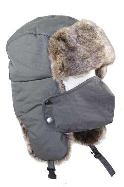 Men's Faux Fur Trapper Cap & Mask | Winter Hats for Men