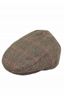 Men's Wool Blend Houndstooth Driver Cap with Snap Back | Men's Wool Driver Hat