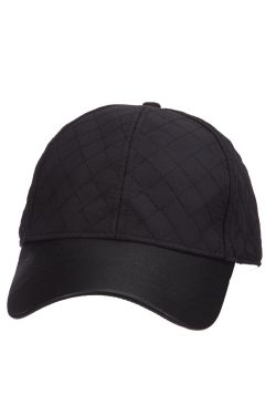 Quilted Baseball Cap with Faux Leather Brim | Baseball Caps for Women