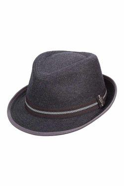 Men's Wool Blend Ribbon Fedora | Mens Wool Hats