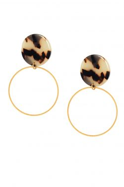 Lyssa Tortoiseshell Hoop Earrings | Hypoallergenic Earrings |