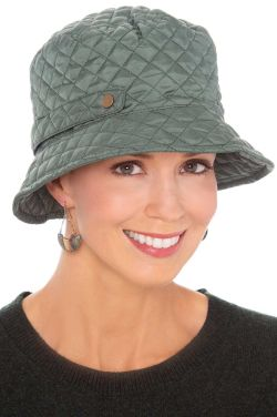 Manhattan Quilted Rain Hat | Packable Rain Hats for Women