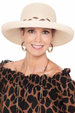 Braided Brim Mariella Sun Hat   Stylish Sun Hats for Women