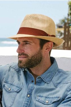 Matte Raffia Fedora | Straw Fedoras for Men