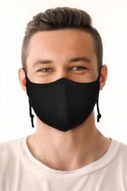 Size LARGE | Organic Cotton Face Mask for Men | Medical & Surgical Face Mask with Filter Pocket