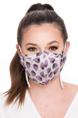 Silk / Cotton Face Mask with Designs | Bamboo Liner | Medical & Surgical with Filter Pocket