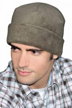 Fleece Cuffed Sleep Cap for Men | Warm Day or Night Caps | Sleeping Hats Slouchy Beanies