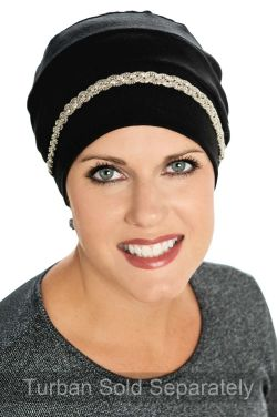 Metallic and Beaded Headband - Headwear Accessories