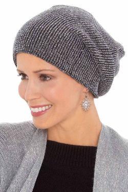 Metallic Lurex Slouchy Beanie | Winter Hats for Women