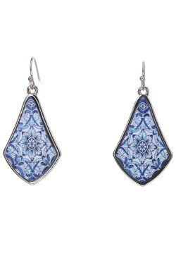 Moroccan Tile Earrings | Hypoallergenic and Nickel Free