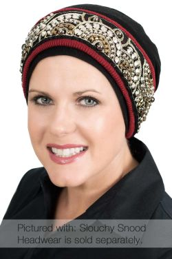 Beaded Mosaic Cuff Headband | Hat and Turban Accessory Band
