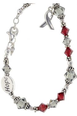 Multiple Sclerosis Awareness Bracelet - Sterling Silver