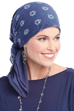 Sequined Bandana Head Scarf | 100 Percent Cotton Square Head Scarves