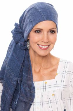Oblong Denim Wash Scarf | Head Scarves for Women