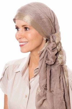 Oblong Metallic Scarf | Head Scarves for Women