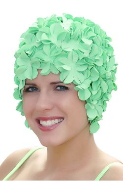 Retro Petal Swim Cap | Vintage Flower Bathing Cap | Swimming Hat by Sync