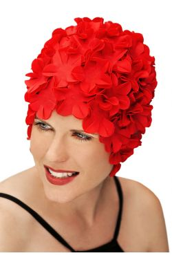 Retro Petal Flower Swim Caps