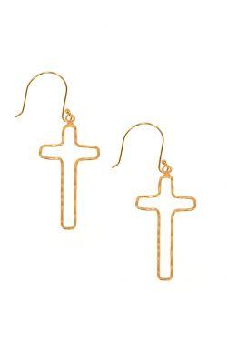 Open Cross Dangle Earrings | Nickel & Lead Free Earrings