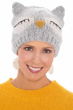 Owl Knit Beanie Cap | Cute Beanies for Women