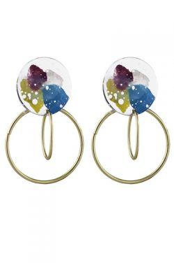 Painted Metal Hoop Earrings | Nickel & Lead Free Earrings