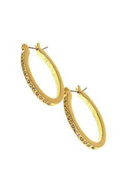 Pave Oval Hoops | Nickel Free Hypoallergenic Earrings