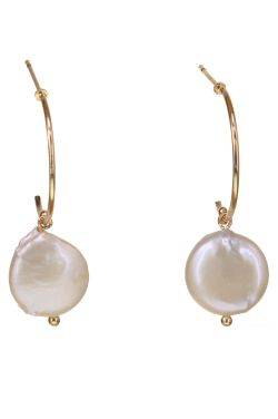Partial Hoop Pearl Earrings | Hypoallergenic and Nickel Free