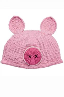 Cotton Crochet Pig Hat for Kids
