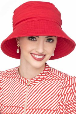 Cardani UPF 50+ Pleated Sun Hat | 100% Cotton with Aloe Vera Lining